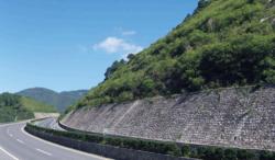 大长山岛环岛公路裸岩喷播覆绿工程